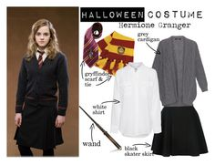 """Halloween Costume: Hermione Granger"" by nerd-ville ❤ liked on Polyvore featuring Avelon, Weekend Max Mara, Equipment, Halloween, Costume, cosplay and halloweencostume"