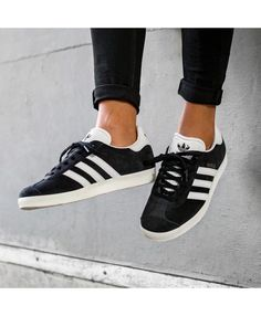 96dd0fceec3 Adidas Gazelle OG Black And White Adidas Gazelle Black