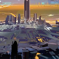 Inner Bridge. personal work. from structura II used for a Japanese book cover in 2012.