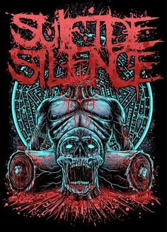 SUICIDE SILENCE Heavy Metal Art, Heavy Metal Bands, Creepy Tattoos, Evil Tattoos, Lsd Art, Metal Band Logos, Rock Y Metal, Band Posters, Rock Posters