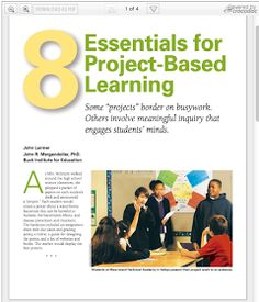 Educational Technology and Mobile Learning: The 8 Essential Elements of Project Based Learning