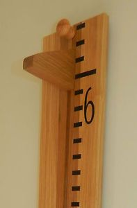 Handmade Wooden Growth Chart / Oversize Ruler. Solid Oak, Ideal Christening Gift