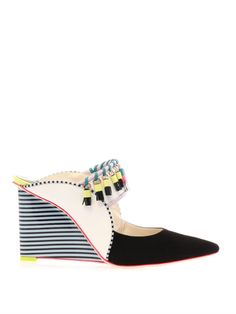 Samia leather and suede mules | Sophia Webster | MATCHESFASHIO...