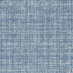 Khadi (110483) - Scion Wallpapers - A textured plain developed from the threads of a coarsely woven cotton cloth. Shown here in denim blue colouring - more colours are available. Please request a sample for true colour match. Paste-the-wall product.