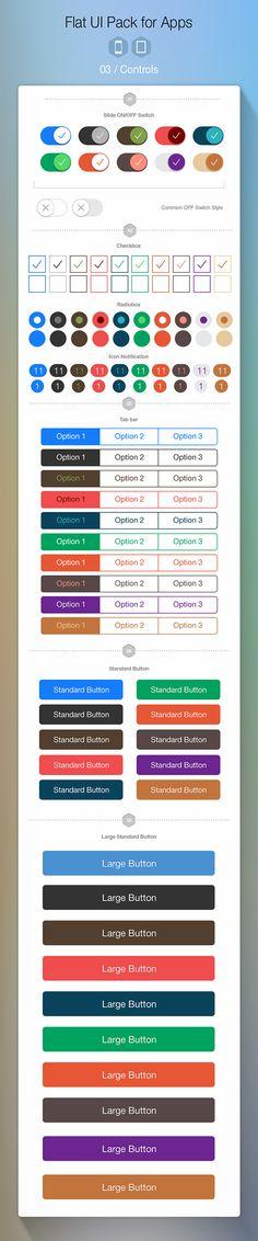 https://www.behance.net/gallery/Flat-UI-Pack-for-Apps-Build-Apps-Beautifully/10891015