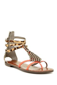 Ginger Genuine Calf Hair Sandal
