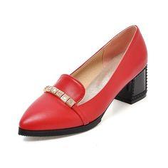De mujer Salón Tacones Tacón ancho Cuero Zapatos