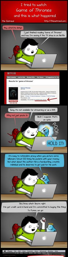 This exact moral process has happened to me more than once. On torrenting vs. legal download.