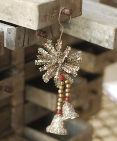 Hope Bells Ornament by Lancaster Home & Holiday- we used to have similar bells attached to a red flocked ribbon bow
