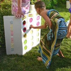 A punch box is a great alternative to a pinata: no pushing, no big stick, and everyone gets a little something.