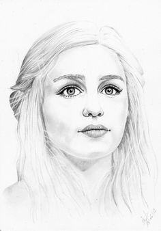 Daenerys by Psychologeek, via deviantart