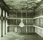 Mannheim ~ Baden-Württemberg ~ Germany ~ Mannheim Palace is used by the University of Mannheim.  Library of Mannheim Castle, historical record before 1945.