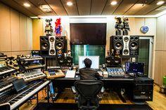 ADAM S6X main monitors and ADAM S3A midfield monitors @ YG Entertainment Studios, Seoul.