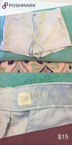 Gap Chino Shorts - Powder Blue Size 4. Like new. GAP Shorts