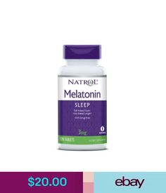 Vitamins & Minerals Natrol Melatonin 3 Mgdrug-Free Nighttime Sleep Aid - 120 Tablets #ebay #Fashion