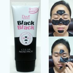CHARCOAL NOSE STRIPS PEEL OFF MASK PACK BLACKHEAD PORE CLEANSING REMOVAL 60ml #NESURA