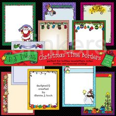 Christmas Time clip art borders, christmas borders, christmas clip art, holiday borders