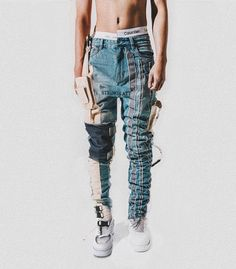Discover recipes, home ideas, style inspiration and other ideas to try. Fashion Joggers, Denim Fashion, Fashion Outfits, Boy Fashion, Swag Outfits Men, Denim Ideas, Urban Fashion Women, Stylish Men, Street Wear