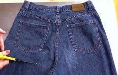 Una donna taglia un vecchio paio di jeans: ciò che sta per creare è davvero ingegnoso!