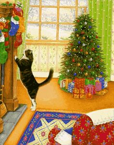 christmas cat gif - Google Search