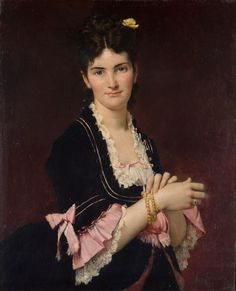 Portrait of Madame Mestayer ~ Jules Elie Delaunay ~ (French, 1828-1891)