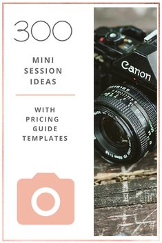 300 mini session ideas and pricing guide templates for beginner photographers