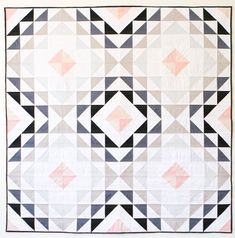 Diamond Ripples Quilt Pattern by Meghan of Then Came June. This pattern is great to display your fav Quilts Vintage, Antique Quilts, Girls Quilts, Baby Quilts, Quilt Storage, Scrap Busters, Half Square Triangle Quilts, Quilt Making, Quilt Blocks