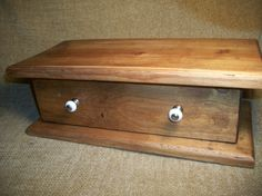 Knotty Pine Recipe Card Box Cabinet with Drawer by TKSPRINGTHINGS, $15.95