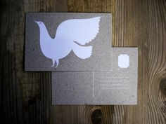 Dove Postcard by KarolinSchnoor on Etsy