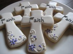 Cross Cookies one dozen by LuxeCookie on Etsy, $29.00