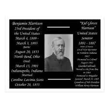 Shop President Benjamin Harrison Postcard created by archemedes.