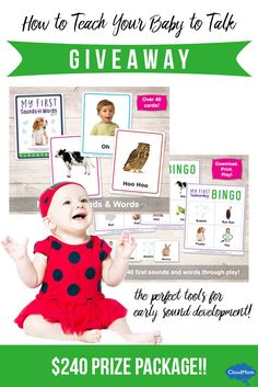 WIN a $240 prize package with the perfect tools for speech development for your baby! Click through to enter!