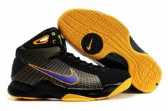 Cheap Kobe Hyperdunks TB Supreme Cheap Kobe Bryant shoes Black Gold Purple  324820 057 Nike Kd 7c51b2d44