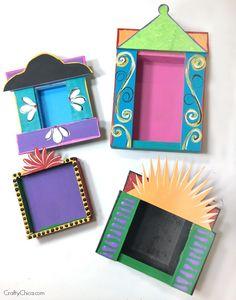 Glue Crafts, Paper Crafts, Diy Crafts, International Craft, Crafts For Kids, Arts And Crafts, Diy Shadow Box, Winter Art Projects, Tin Art
