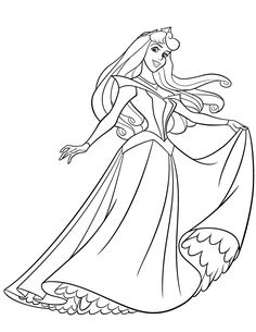 pretty princess aurora coloring page
