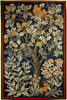 The William Morris Grouse tapestry is now woven in France, from Arts and Crafts Tapestries William Morris, Art Graphique, Arts And Crafts Movement, Tree Of Life, Quilting Designs, Textile Art, Fiber Art, Art Nouveau, Illustration