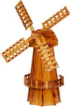 Diy Decorative Windmill Wooden Ornament Art Garden Art