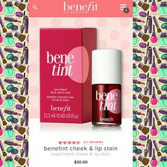 ♥ NEW Benetint by Benefit New in box. Rose tinted lip & cheek stain Sephora Makeup