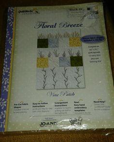 Jo-Ann ~ Quilt Block Of The Month ~  Floral Breeze  ~ Month # 12 Vine Patch