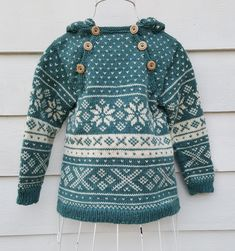 Snøhetta anorak and sweater von SiSiVeAS auf Etsy Knitting For Kids, Baby Knitting, Crochet Baby, Knit Crochet, Wooly Bully, Norwegian Knitting, Fair Isle Knitting, Baby Sweaters, Knit Patterns