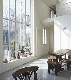 rustic modern. love the window.