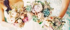 Summer brides a lucky to have the most beautiful flowers in season for their wedding bouquet. From cascading bouquets to hand tied creations, there are many possibilities to create something that matches your wedding theme and colors. Whichever summer wedding bouquet you choose, be sure your it reflects your personality. Happy Pinning!