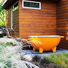 Dutch Tub: a wood-fired portable hot tub