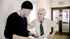 """HP DVD Extras  It looks like a modern AU where Draco and the twins are like behind-the-scenes prankster BFFs and they set up inter-house pranks but nobody suspects them of working together because of the rivalry and this is like """"dude here's the plan"""" """"sweet I'll pass it on""""  I will pay you to write that AU."""