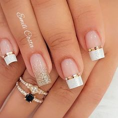100 Beautiful wedding nail art ideas for your big day - wedding nails bride nails nail art romantic nails pink nails inspiration Simple Nail Art Designs, Winter Nail Designs, Nail Designs Bling, Toe Nail Designs, Cute Acrylic Nails, Gel Nails, Glitter Toe Nails, Pastel Nail, Pink Nail Art