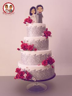Cute Wedding  - Cake by Un Jeu d'Enfant - Cake Design