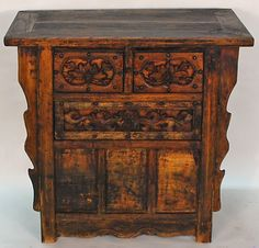 antique asian furniture rare chinese three drawer coffer table from shanxi province china amazoncom oriental furniture korean antique style liquor