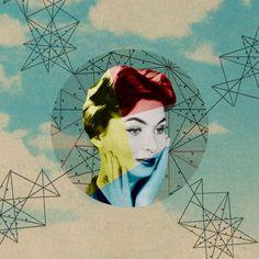 Sammy Slabbinck logra reflejar la cultura del espectáculo a través de collages hechos de ilustraciones vintage.