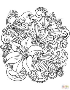 93 Best Flower Coloring Pages Images Flower Coloring Pages