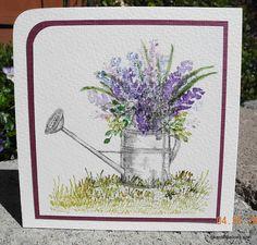 Watercolor Watering Can Art Impressions wonderful watercolor line
